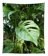 Tropical Green Foliage Tapestry