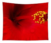 Tropical Hibiscus - Antigua Wind 01a Tapestry