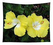 Tropical Hibiscus - Bonaire Wind 01 Tapestry