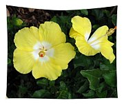 Tropical Hibiscus - Bonaire Wind 02 Tapestry