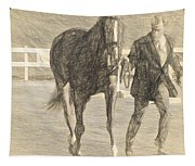 Trot Out Drawn Tapestry