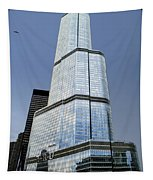 Trump Tower Facade 3 Letter Signage Tapestry
