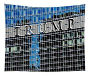 Trump Tower Marquee Tapestry