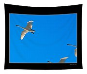 Trumpeter Swans In Color Tapestry