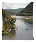 Tubing On The Potomac River At Harpers Ferry Tapestry