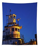 Tug Boat At Dawn, Cape Ann, Gloucester Tapestry