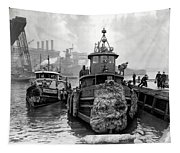 Tugboat Winter  1946 Tapestry