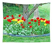 Tulip Bed Tapestry