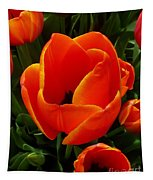 Tulip Orange Flower Tapestry