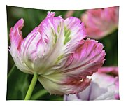 Tulip Time Pink And White Tapestry