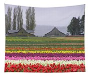 Tulip Town Barns Tapestry