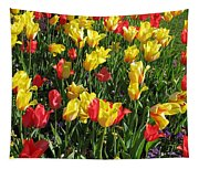 Tulips - Field With Love 49 Tapestry