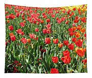 Tulips - Field With Love 61 Tapestry