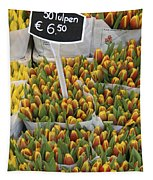 Tulips For Sale In Market, Close Up Tapestry