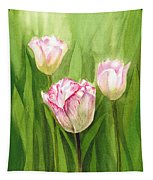 Tulips In The Fog Tapestry