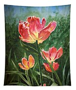 Tulips On Fire Tapestry