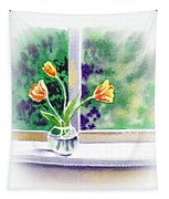Tulips On The Window Tapestry