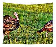 Turkey Pair Tapestry