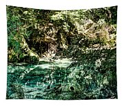 Turquoise Forest Pond On A Summer Day No1 Tapestry