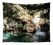 Turquoise Forest Pond On A Summer Day No2 Tapestry