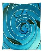 Turquoise Glass Koru Tapestry