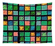 Turquoise Sudoku Tapestry