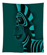 Turquoise Zebra Tapestry