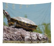Turtle At The Lake Tapestry