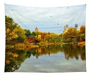 Turtle Pond 2 - Central Park - Nyc Tapestry