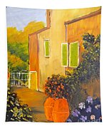 Tuscany Courtyard Tapestry