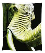 Tusk 1 - Dramatic Elephant Head Shot Art Tapestry