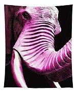 Tusk 2 - Pink Elephant Art Tapestry