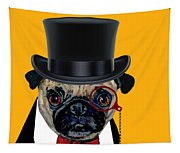 Tux Pug Tapestry