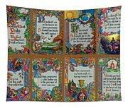Twenty Third Psalm Collage Tapestry