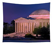 Twilight At The Jefferson Memorial Tapestry