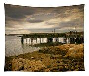 Twilight Cape Porpoise Maine Tapestry