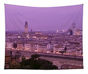 Twilight, Florence, Italy Tapestry