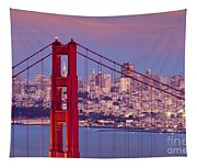 Twilight Over San Francisco Tapestry