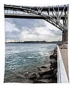 Twin Bridges Over Blue Water Tapestry