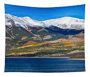 Twin Lakes Colorado Autumn Panorama Tapestry