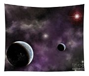 Twin Planets With Nebula Tapestry
