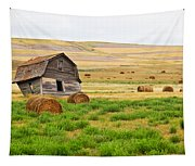 Twisted Barn On Canadian Prairie, Big Tapestry