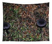 Two Black Stools Tapestry