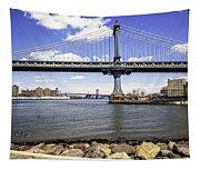 Two Bridges View - Manhattan Tapestry