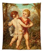 Two Cherubs Tapestry