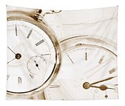 Two Clocks Tapestry