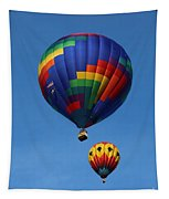 Two Colorful Balloons Tapestry