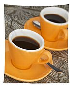 Two Cups Of Espresso Tapestry