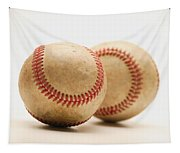 Two Dirty Baseballs Tapestry