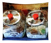 Two Glass Cookie Jars Tapestry
